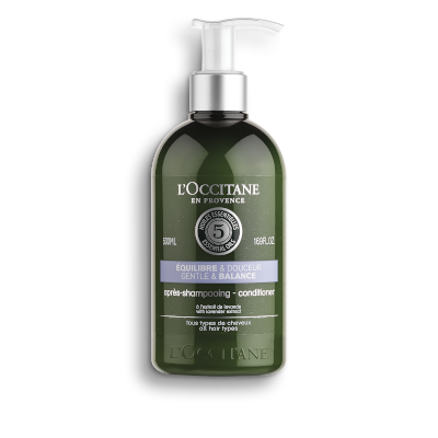 Gentle & Balance Conditioner by L'Occitane, our favourite French conditioner.