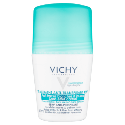 48h Anti-perspirant Roll-on by Vichy, the best French deodorant in the form of a roll-on.