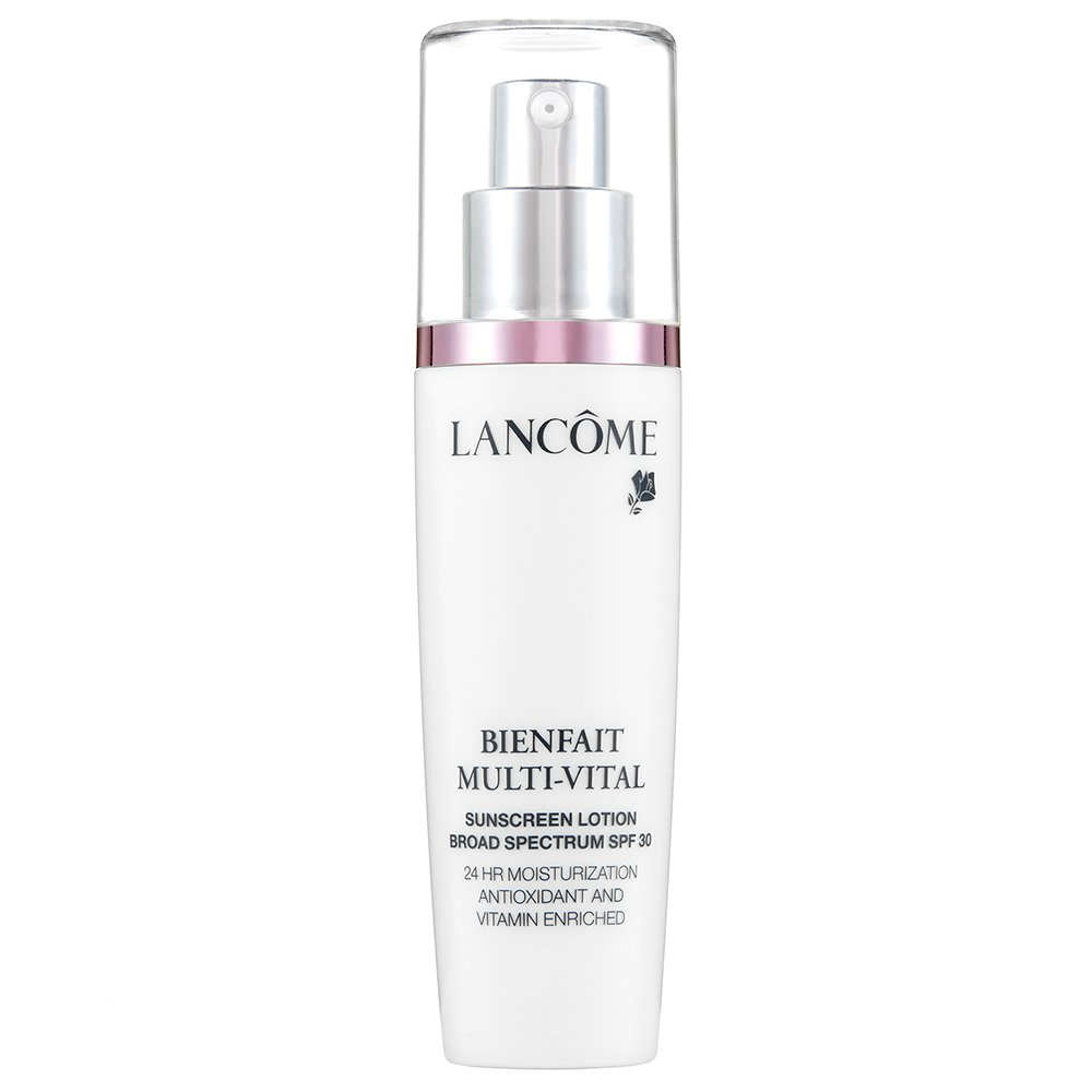 Bienfait Multi-Vital Sunscreen Lotion by Lancome, the best French moisturising sunscreen.