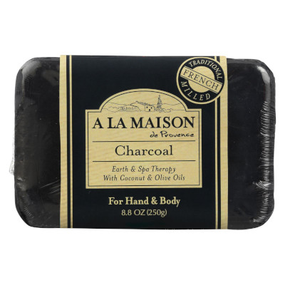 Charcoal Bar Soap by A La Maison de Provence, a fantastic French bar soap for oily skin.