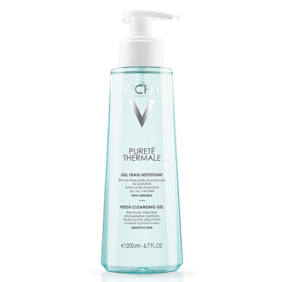Purete Thermale Fresh Cleansing Gel by Vichy, one of the best French face washes for all skin types.