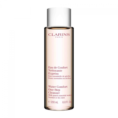 Water Comfort One-Step Cleanser by Clarins, one of the best French cleansers for dry skin.