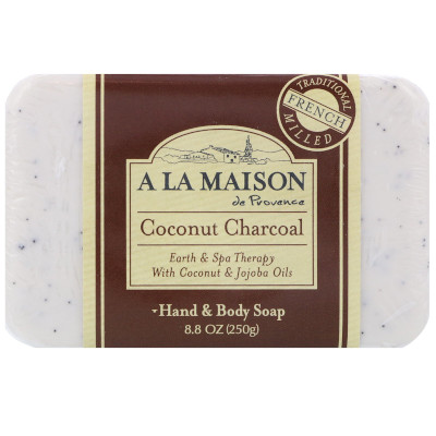 Coconut Charcoal Bar Soap by A La Maison de Provence, another contender for best French bar soap, but for normal skin types.