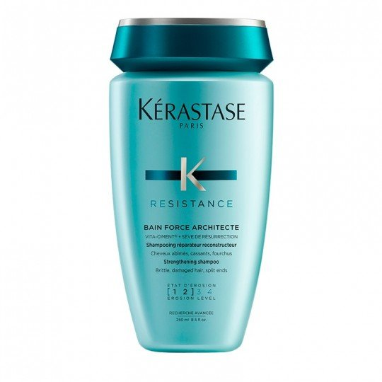 Resistance Bain Force Architecte Shampoo by Kerastase, the best French shampoo for brittle, damaged hair.