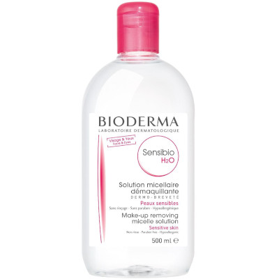 Best-selling Sensibio H2O Micellar Water from Bioderma, one of the best scientific French skincare brands.