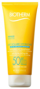 Lait Solaire Hydratant SPF50 by Biotherm, the best French sunscreen for sports.