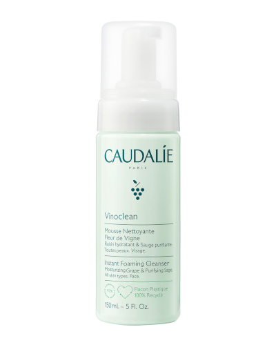 Instant Foaming Cleanser by Caudalie, one of the best French cleansers for all skin types and one of the most quintessentially French pharmacy products.
