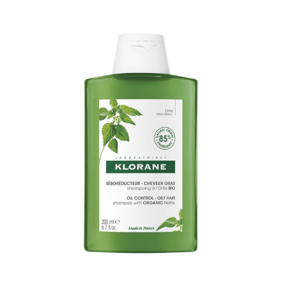 Shampoo With Nettle by Klorane, the best French shampoo for oily hair types.