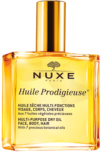 Best-selling Huile Prodigieuse from Nuxe, the best sensorial French skincare brand.