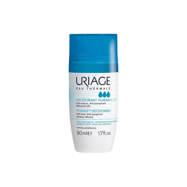 Power3 Deodorant by Uriage, the best French deodorant overall.