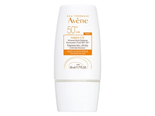 Solaire UV Mineral Sunscreen Fluid by Avene, the best French sunscreen for sensitive skin.