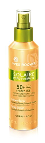SPerfect Skin Spray Lotion SPF50 by Yves Rocher, the best French sunscreen for body skin.